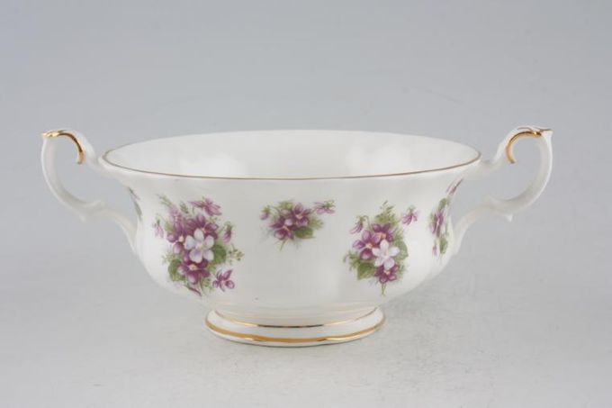 Royal Albert Sweet Violets Soup Cup Two handles