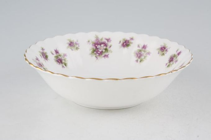 Royal Albert Sweet Violets Oatmeal / Cereal / Soup 6 1/4""