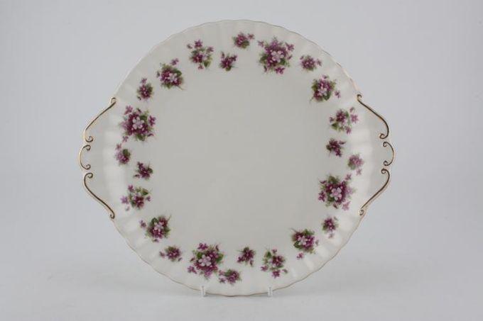 "Royal Albert Sweet Violets Cake Plate Eared 10"""