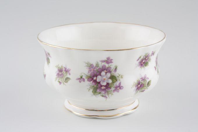 "Royal Albert Sweet Violets Sugar Bowl - Open (Coffee) 3 5/8"""