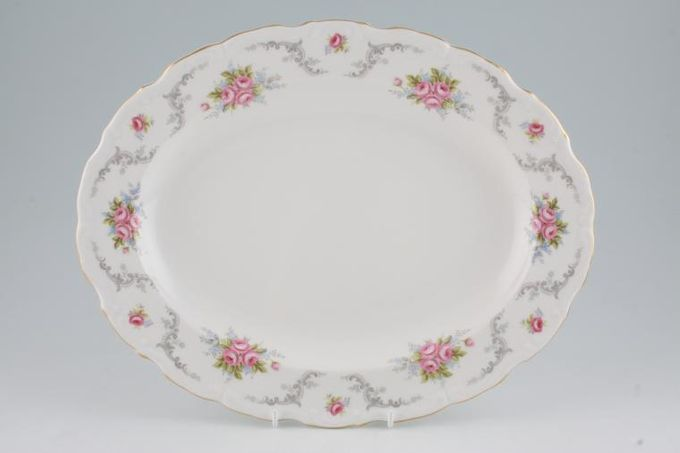 "Royal Albert Tranquility Oval Plate / Platter 13 5/8"""