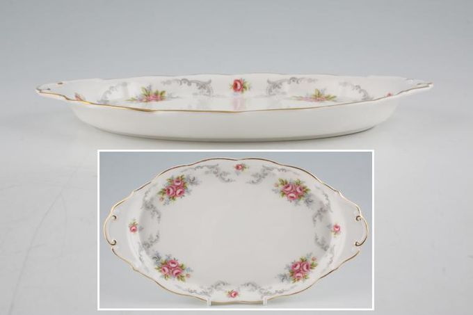 """Royal Albert Tranquility Serving Tray Oval 10 x 5 3/4"""""""