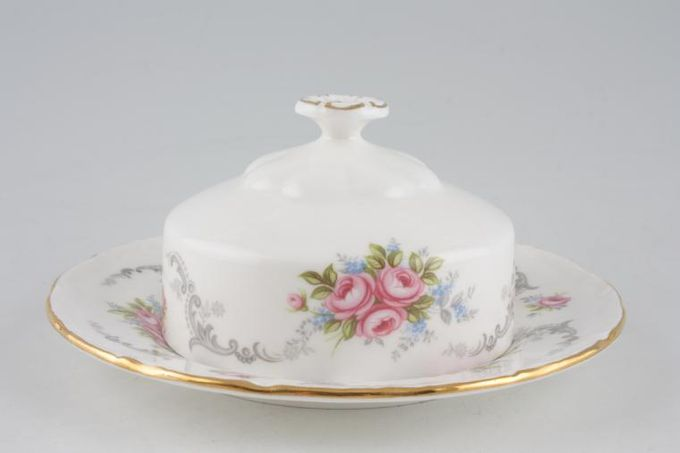 "Royal Albert Tranquility Muffin Dish + Lid Use 6 1/4"" Plates as base 6 1/4"""