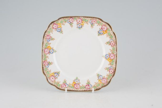Royal Albert Trellis - Blue and Pink Flowers Tea / Side / Bread & Butter Plate 6""