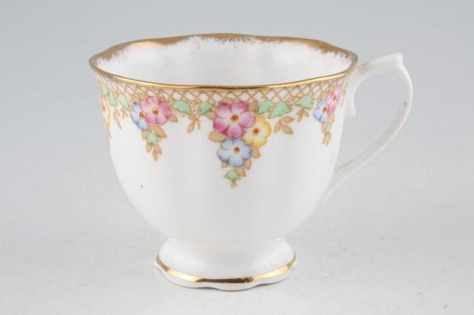 "Royal Albert Trellis - Blue and Pink Flowers Teacup 3 1/4 x 2 3/4"""