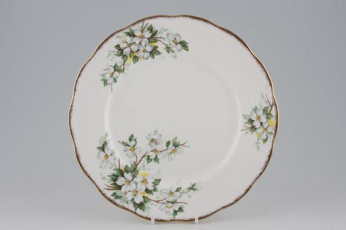 """Royal Albert White Dogwood Dinner Plate 10 1/4"""""""