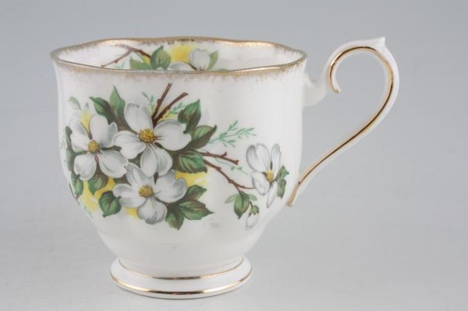 Royal Albert White Dogwood Breakfast Cup 3 1/2 x 3 1/4""