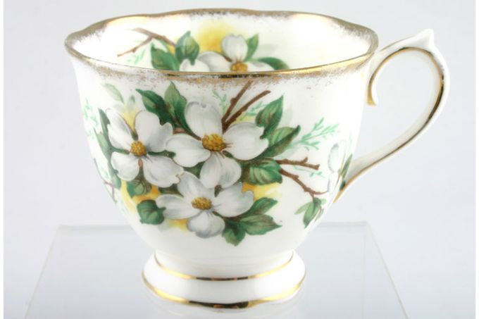 Royal Albert White Dogwood Teacup 3 1/2 x 2 5/8""