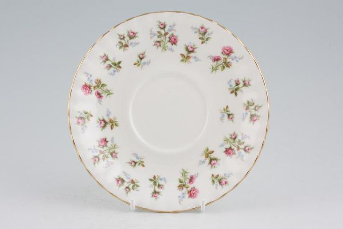 Royal Albert Winsome - Pink+Green Soup Cup Saucer 6 1/4""