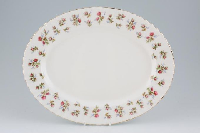 Royal Albert Winsome - Pink+Green Oval Plate / Platter 13""