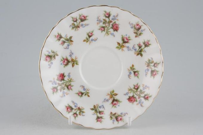 Royal Albert Winsome - Pink+Green Coffee Saucer 5""