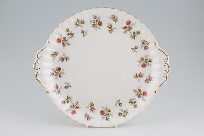 """Royal Albert Winsome - Pink+Green Cake Plate Eared 10 1/4"""""""
