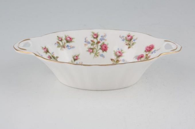 Royal Albert Winsome - Pink+Green Dish (Giftware) oval, eared 5 3/4""