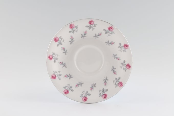 Royal Albert Winsome - A2924 - Pink + Grey Tea Saucer 5 1/2""