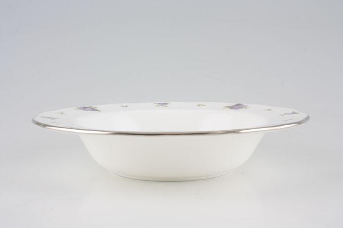"Royal Albert Lilac Lane Rimmed Bowl **Platinum Edge** 8"""