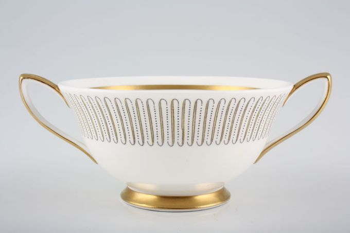Royal Albert Capri Soup Cup 2 Handles, Thick gold line on foot, handles and inside