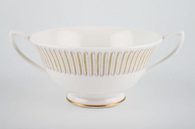 Royal Albert Capri Soup Cup 2 Handles, Thin gold line on foot and handles