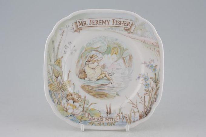 "Royal Albert World of Beatrix Potter (The) Tea / Side / Bread & Butter Plate Mr Jeremy Fisher - Square 6"""