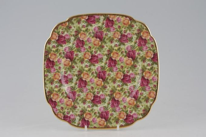"""Royal Albert Old Country Roses - Chintz Collection Starter / Salad / Dessert Plate Square 8"""""""