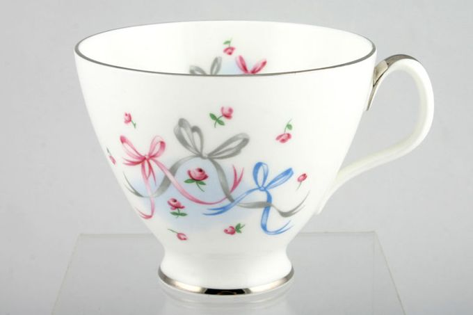 """Royal Albert Buttons and Bows Teacup Silver rim 3 1/2 x 3"""""""