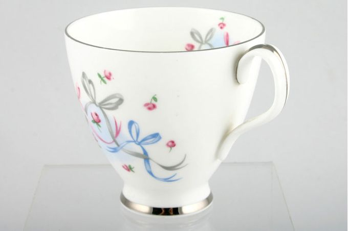 Royal Albert Buttons and Bows Coffee Cup Silver rim 3 x 3""