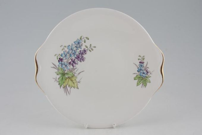 Royal Albert Flower of the Month Series - Hand Painted - Larkspur No.7 Cake Plate 9 1/2""
