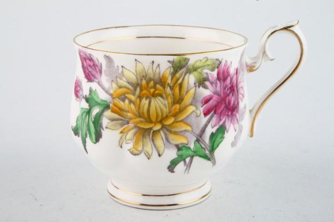 """Royal Albert Flower of the Month Series - Hand Painted - Chrysanthemum No.11 Teacup Montrose Shape - Style 2 3 x 2 3/4"""""""