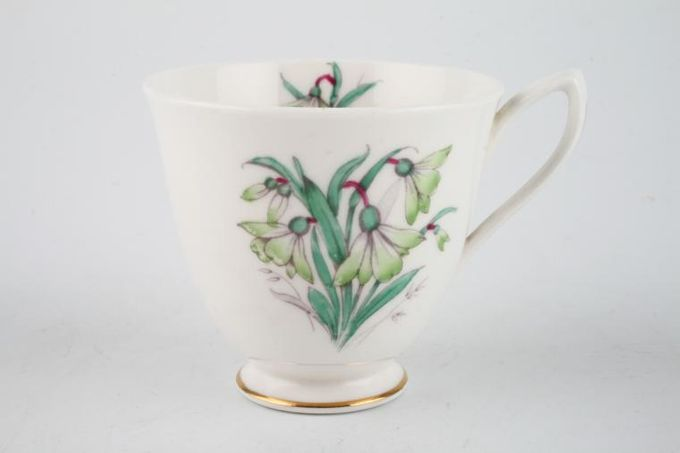 Royal Albert Flowers of the Month - No gold around rim-January- Snowdrop Coffee Cup 3 x 2 3/4""