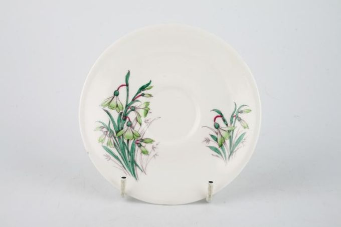 """Royal Albert Flowers of the Month - No gold around rim-January- Snowdrop Coffee Saucer 4 3/4"""""""