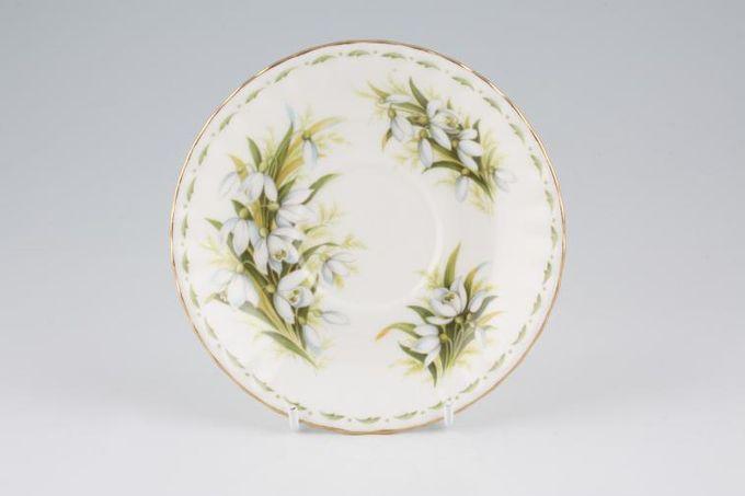 "Royal Albert Flower of the Month Series - Montrose - January - Snowdrops Tea Saucer 5 1/2"""