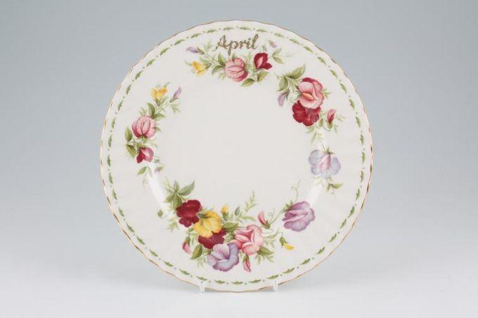 "Royal Albert Flower of the Month Series - Montrose - April - Sweet Pea Starter / Salad / Dessert Plate 8"""