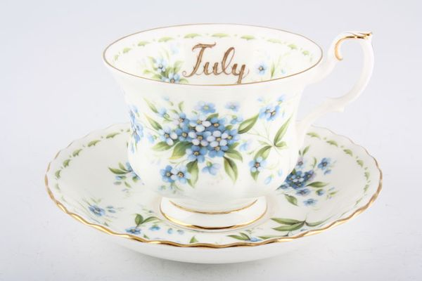 Royal Albert Flower of the Month Series - Montrose - July - Forget Me Not