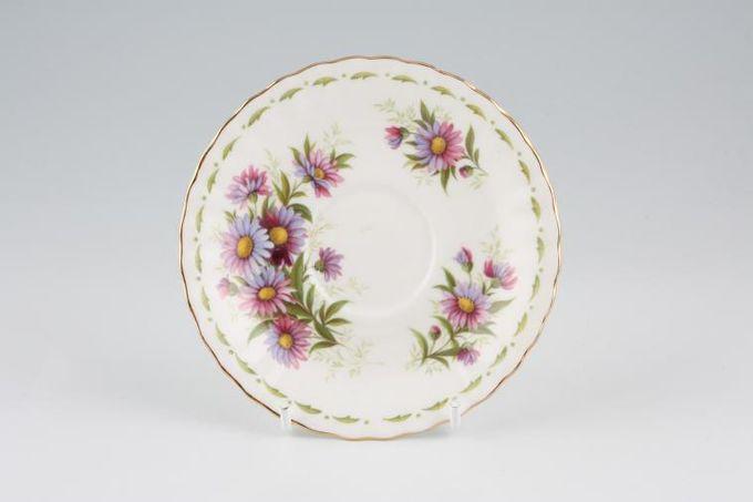 "Royal Albert Flower of the Month Series - Montrose - September - Michaelmas D Coffee Saucer 4 3/4"""