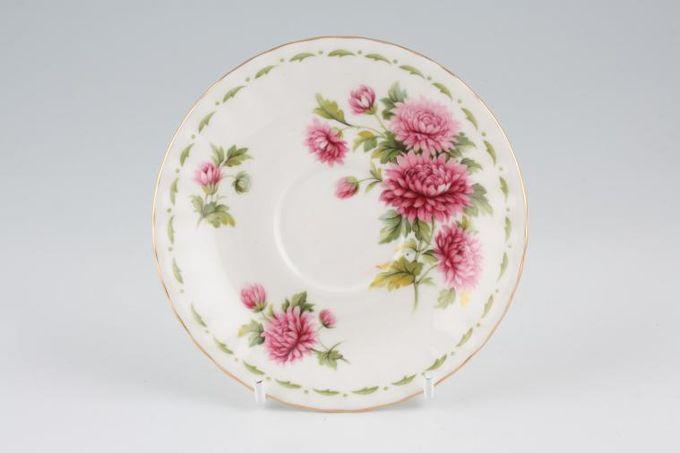 "Royal Albert Flower of the Month Series - Montrose - November - Chrysanthemum Coffee Saucer 4 3/4"""