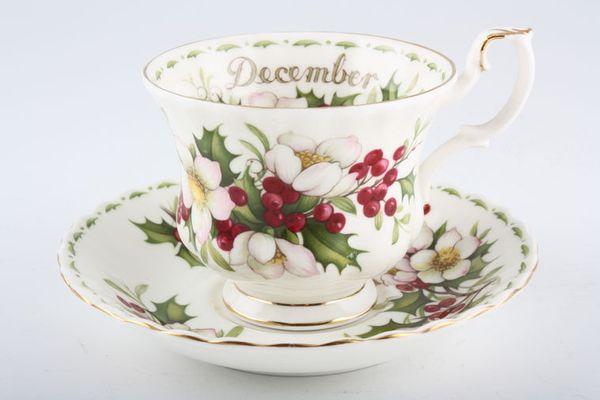 Royal Albert Flower of the Month Series - Montrose - December - Christmas Ros