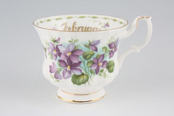 Royal Albert Flower of the Month Series - Montrose - February - Violets