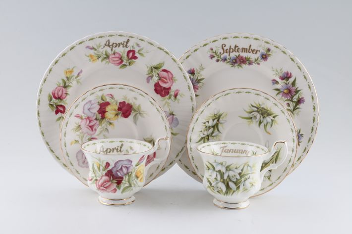 Royal Albert Flower of the Month Series - Montrose - All Flowers