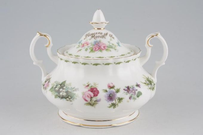 Royal Albert Flower of the Month Series - Montrose - All Flowers Sugar Bowl - Lidded (Tea)