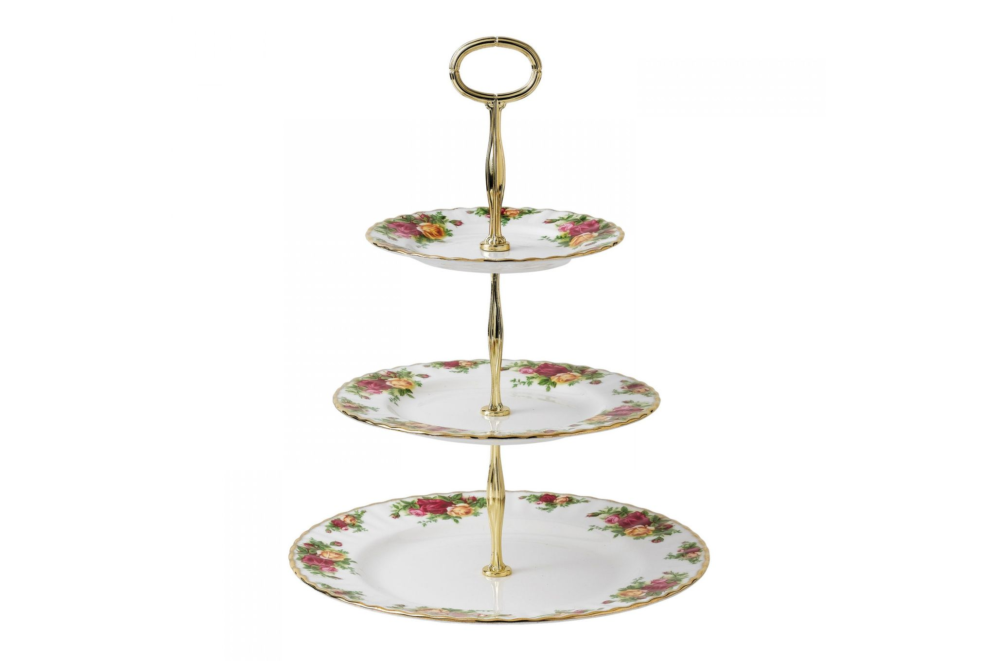 Royal Albert Old Country Roses - Made Abroad 3 Tier Cake Stand thumb 1