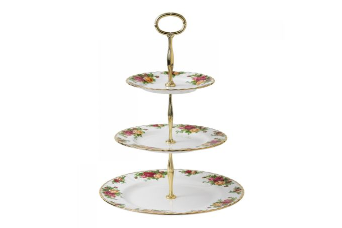 Royal Albert Old Country Roses - Made Abroad 3 Tier Cake Stand