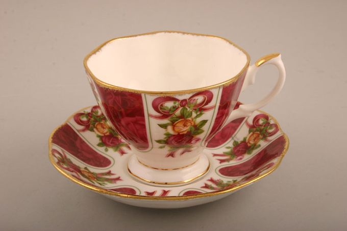 """Royal Albert Old Country Roses - Ruby Damask Teacup 3 5/8 x 2 5/8"""""""