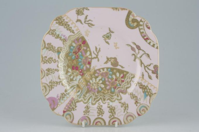 """Royal Albert My Favourite Things - Zandra Rhodes Starter / Salad / Dessert Plate Accent - Square - Pale Pink 7 3/4"""""""
