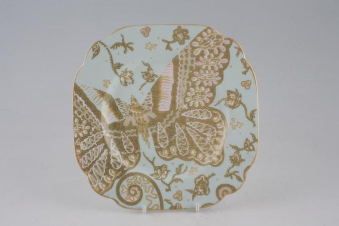 Royal Albert My Favourite Things - Zandra Rhodes Starter / Salad / Dessert Plate Accent - Square - Pale Blue/Green 7 3/4""