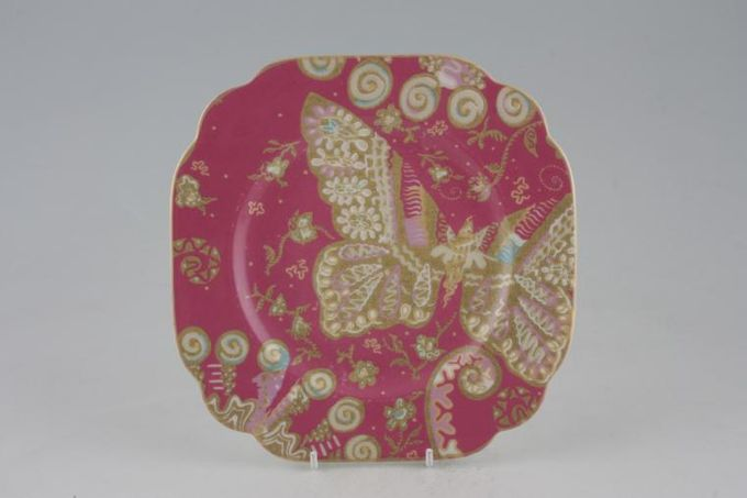 Royal Albert My Favourite Things - Zandra Rhodes Starter / Salad / Dessert Plate Accent - Square - Deep Pink 7 3/4""