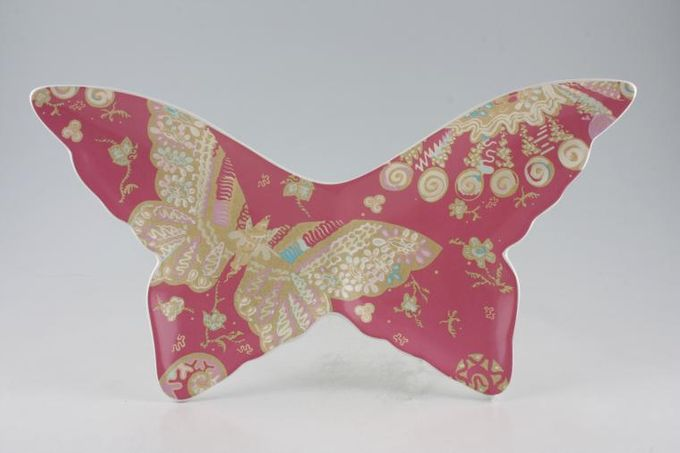 Royal Albert My Favourite Things - Zandra Rhodes Serving Plate Butterfly Shape, Measurement from tip of wings 16 1/2""