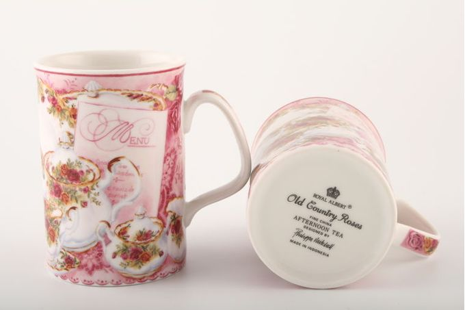 Royal Albert Afternoon Tea Mug Royal Albert B/S. Old Country Roses 2 7/8 x 4""