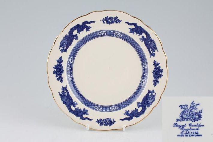 Royal Cauldon Dragon - Blue - Old style
