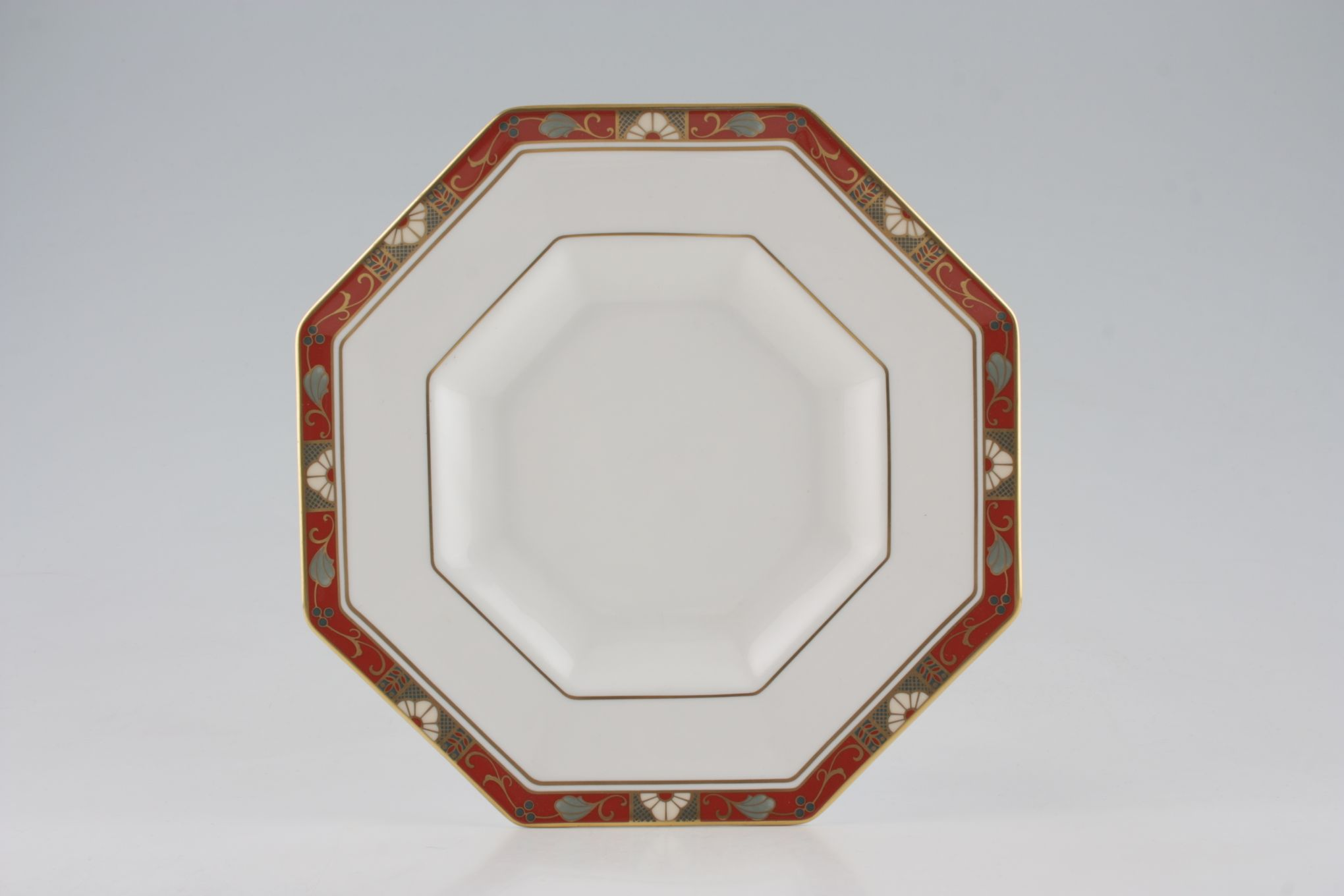 "Royal Crown Derby Cloisonne - A1317 Breakfast / Salad / Luncheon Plate Octagonal - Deep 8 3/4"" thumb 1"