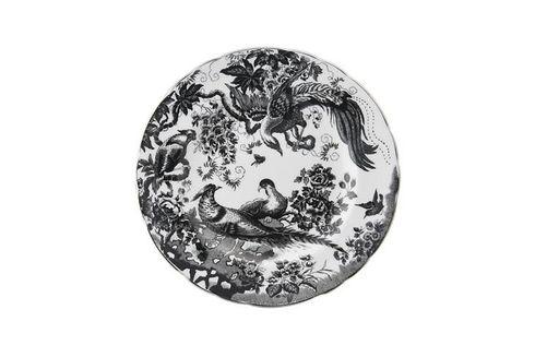 """Royal Crown Derby Black Aves Platinum - A1340 Starter / Salad / Dessert Plate 8 1/2"""""""