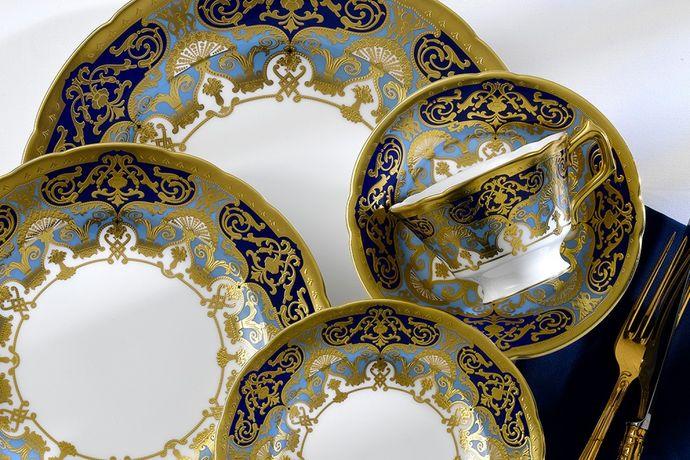 Royal Crown Derby Heritage Cobalt and Dark Blue